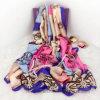 Multicolor Silk имитационный шарф пляжа способа в полиэфире 100% (HK05)