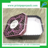 Caja de cartón rígida cilíndrica de lujo de encargo personalizada