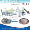 세척 선을 재생하는 플라스틱 폐기물 작은 조각 및 필름
