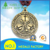 Medalha feita sob encomenda do esporte do metal da concessão do ouro com fita