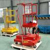 Elevador hidráulico de la elevación de la aleación de aluminio de la plataforma de la elevación del hombre del trabajo aéreo un