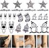 Tatuaje temporal impermeable de la carrocería de la etiqueta engomada del tatuaje de la estrella del muñeco de nieve