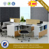 Divisória do escritório dos assentos da pessoa da mobília de escritório 4 da forma (Hx-6M174)