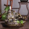 I bruciatori del cono di incenso di riflusso del fumo del mestiere del bruciatore di incenso di Cerative si dirigono il Censer di ceramica del loto degli ornamenti