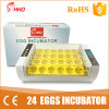 Incubateurs complètement automatique d'oeufs de bonne qualité mini 24 pour le poulet