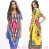 Тип Tailand фольклорный напечатал плюс короткое платье размера втулки