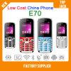 El teléfono barato E70 de China con el teléfono multilingue, móvil SIM dual se dobla teléfono celular espera