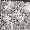 Mosaico di pietra bianco di Bianco Carrara, mattonelle di mosaico di marmo Polished naturali