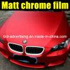 Quality Premium Matte Chrome Red Car Wraps Vinyl Film 1.52*20m