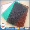Placa sólida grabada pabellón llano rígido del policarbonato del balcón
