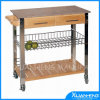 Bamboo classico Kitchen Trolley per Outdoor