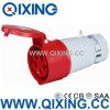 Conector de potencia rojo de Cee/IEC 16A 5p