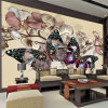 Murali unici all'ingrosso della carta da parati di arte della foto dell'annata della decorazione della stanza di alta qualità di disegno