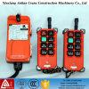 grúa sin hilos de radio industrial de los canales de 380V F21-E1 6 teledirigida