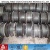 Acero de la industria forjado y ruedas de la grúa de Casted en el carril