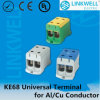 Ai/Cu Conductors Ke68のための喧騒Rail Mounting Universal Terminal Blocks
