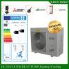Riscaldatore di acqua spaccato molto freddo del commercio all'ingrosso della pompa termica della sala 12kw/19kw/35kw Evi del tester del riscaldamento 100~350sq della Camera del pavimento di inverno di -25c