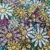 Motivo caldo di difficoltà del fiore della resina dell'indumento variopinto dello strato