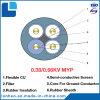 Coal móvel Cutter Non-Metallic Shielding Rubber Sheathed Flexible Mining Cable para 0.38/0.66kv