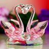 Cisne do cristal da cor-de-rosa do presente do Natal & do presente dos Valentim
