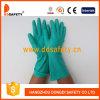Gants droits sans doublure DHL446 de sûreté de manchette d'industrie verte de nitriles