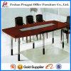 Mesa de reuniones de madera del diseño moderno con el marco de acero