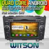 Witson S160 Car DVD GPS Player para Honda CRV (2006-2011) com o Espelho-Link de Core HD 1024X600 Screen 16GB Flash 1080P WiFi 3G Front DVR DVB-T do quadrilátero Rk3188 (W2-M009)