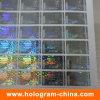 Anti-Falsificación de la etiqueta engomada transparente del holograma del número de serie de la seguridad