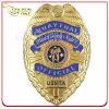 習慣3Dは金によってめっきされた警察の牧師Pinのバッジを刻んだ