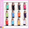 Fashion Candy Couleurs Femmes Neck Neck Tank Cotton Tank Top