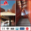 Panneau en aluminium d'intérieur de couleur de qualité/extérieur enduit de Compisite
