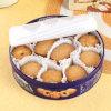 Promotion ronde de conditionnement des aliments de boîte en fer blanc de biscuit