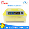 Incubateur complètement automatique d'oeufs de poulet de Hhd pour hacher 48 oeufs