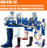 De la inyección rotatoria de 2 máquina que moldea del PVC del color cargadores del programa inicial de lluvia