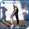 Zeichen-Druck Legging Sportkleidung Athleisure Gummiband 2017 keucht die Frauen, die weibliches Capris Jeggings kleiden