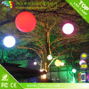 LED-Kugel-Licht im Freien/Glühen in der dunklen Plastikkugel