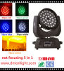 Luz principal móvil 5 de la luz 36*10W de la etapa del LED en 1 luz de Rgbwy