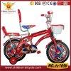 bicicleta vermelha de 16  miúdos com parte traseira da parte traseira, a cesta e a roda dobro do treinamento