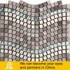 Специальная мозаика проекта конструкции волны стеклянная с металлом и камнем