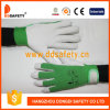 Ddsafety 2017 Pig Grain Leather Green Elastic Cotton Back Wrist with Velcro Fastener