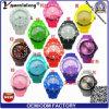 Il quarzo del silicone del ghiaccio di Ginevra Watche del Mens di marchio personalizzato Yxl-347 mette in mostra il commercio all'ingrosso più poco costoso di alta qualità dell'orologio