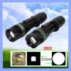 Diodo emissor de luz Flashlight do diodo emissor de luz 5W Adjustable Brightness do CREE T6 de T6061 Aluminum Alloy Black