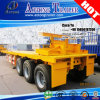 세 배 Axles Flatbed 40ft Shipping Container Carrier Trailer Truck