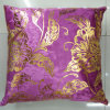 Metallic/Flock Printed Decorative Pillow Metallic Print Cushion (XPL-34)