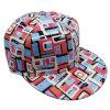 Gorra de béisbol floral de la tela de la manera con el casquillo y el pico plano Sb15114 del Snapback