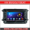 Reprodutor de DVD do carro do Android 4.4 de Forpure do reprodutor de DVD do carro com a tela de toque capacitiva GPS do processador central A9 Bluetooth para VW B5/Golf/Seat (AD-769N)