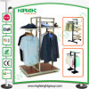 Almacén de ropa modificado para requisitos particulares de madera y soporte de visualización del metal
