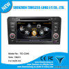 A8 Chipset DVD do carro para Audi A3 com Built-in GPS, Dual Zone, 3G / Wi-Fi, Bt, RDS, Volante (TID-C049)