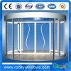 Porta giratória automática de 2 asas com caixa da mostra