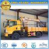 Dongfeng 2 t-teleskopischer Kran-LKW 2 Tonnen LKW eingehangene Kran-
